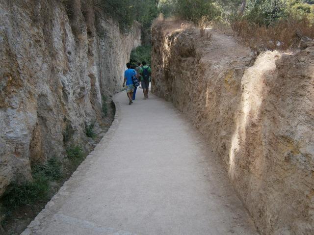 Парк Гуэль, прогулочная аллея