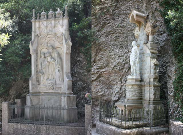 Santa Cova скульптуры