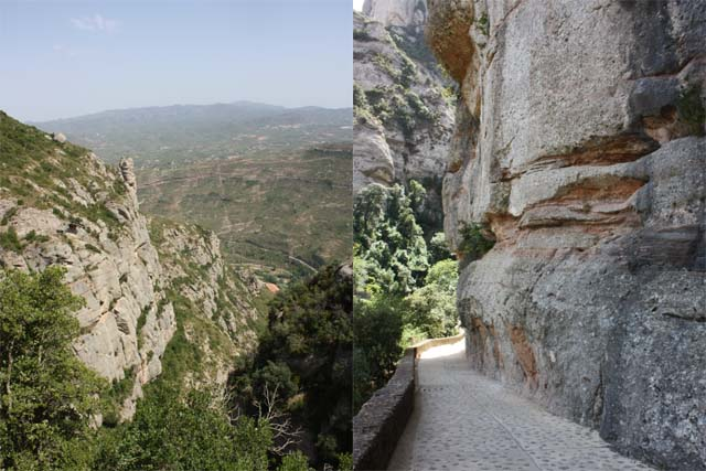 Santa Cova панорама и тропа над обрывом