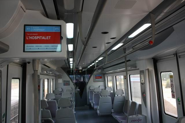 Испания, внутри поезда RENFE
