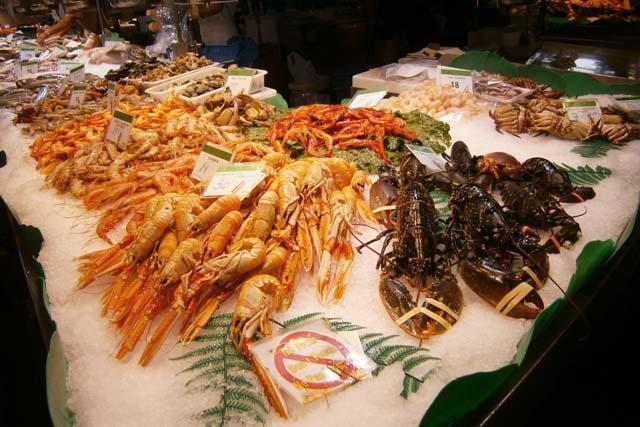 рынок Бокерия морепродукты
