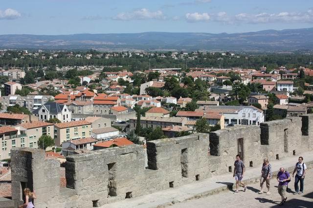 Каркассон вид с крепостных стен