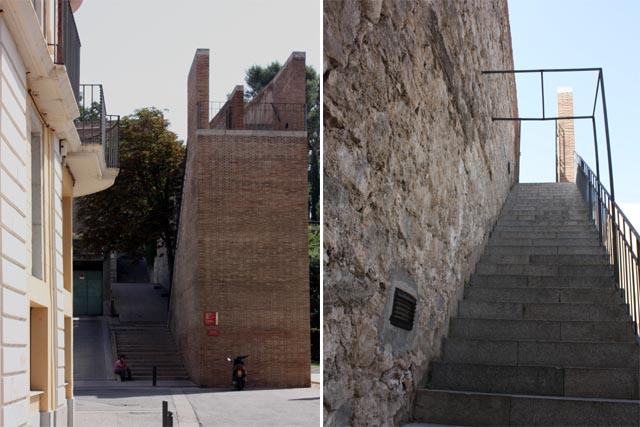 Жирона подъем на крепостную стену