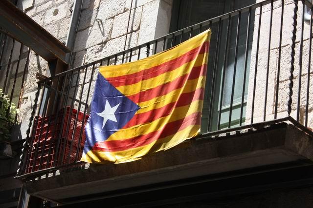 Жирона флаг Каталонии