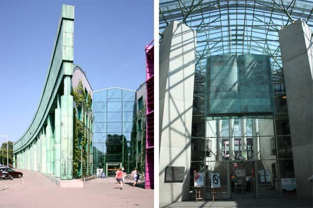Варшава вход в университетскую библиотеку