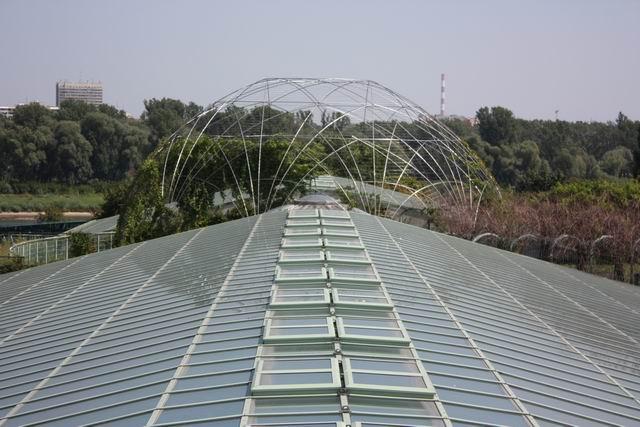 Варшава библиотека прозрачная крыша
