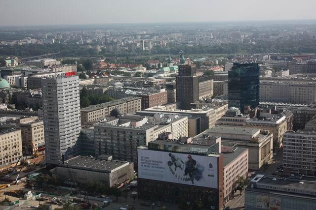 Варшава вид сверху на город