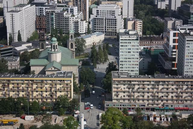 Варшава вид на город с дворца культуры