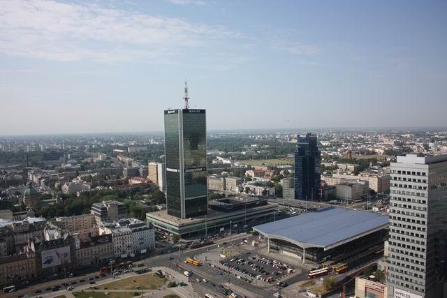 Варшава вид на вокзал Warszawa Centralna