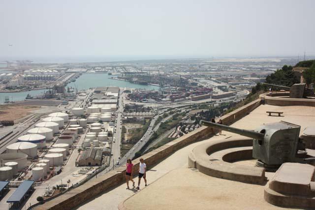 Барселона Монжуик вид с крепости