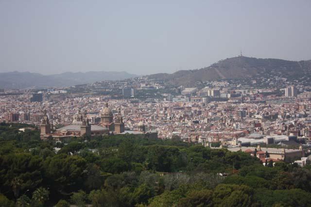 Монжуик вид на город