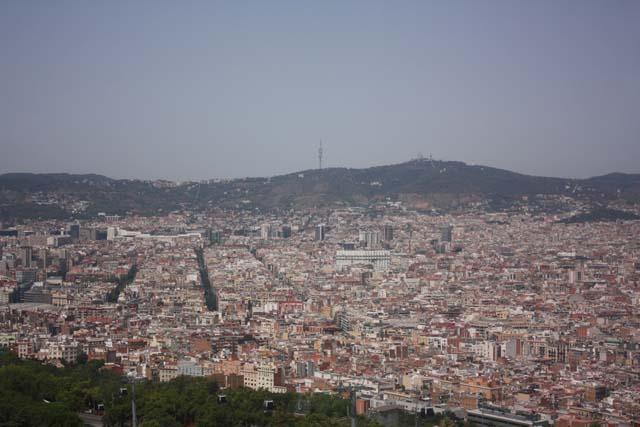 Монжуик вид на Барселону