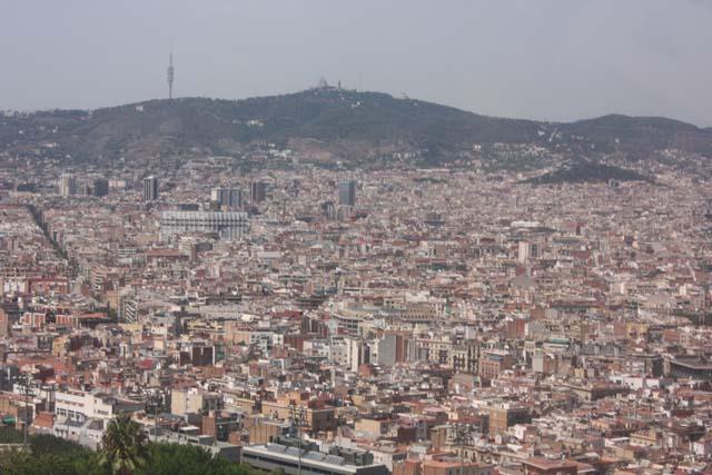 Барселона вид с канатной дороги Монжуик