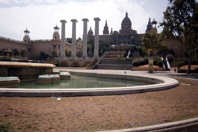 Барселона Национальный дворец фонтаны