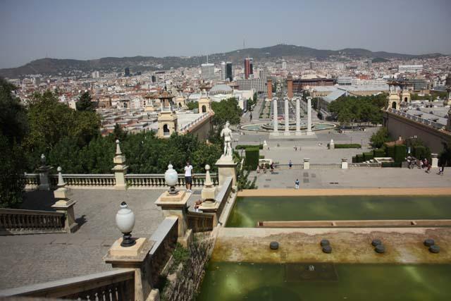 Барселона Национальный дворец вид с площадки
