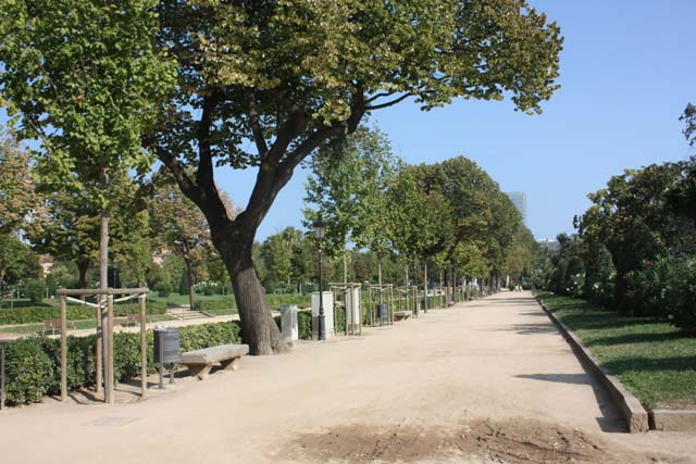 Барселона парк Цитадели дорожка