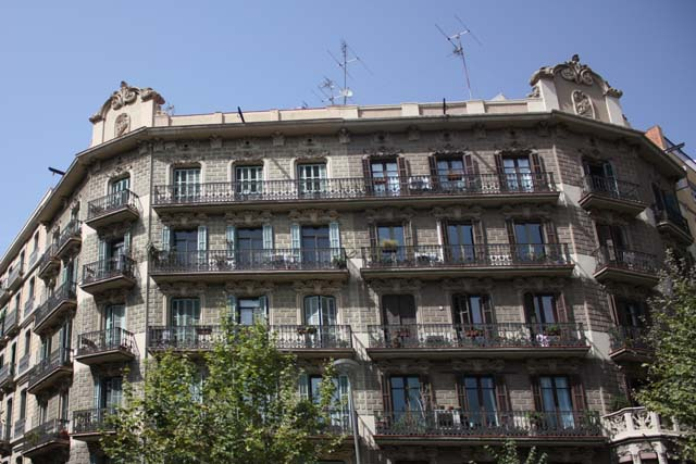 Барселона фасад дома