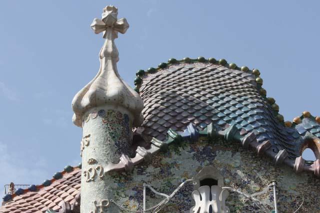 Барселона Дом Бальо крыша