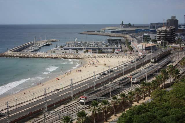 Таррагона вид на порт и вокзал