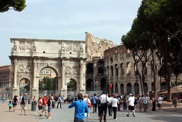Триумфальная Арка Константина и Колизей