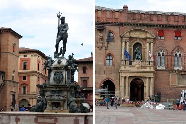Болонья фонтан Нептуна Palazzo Comunale