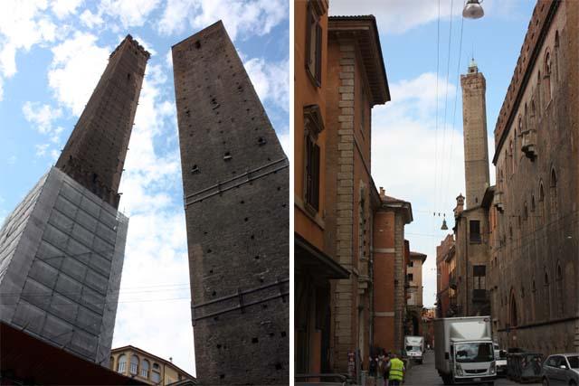 Болонья падающие башни