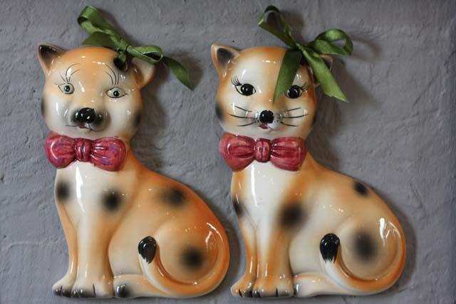 коты фарфоровые пара