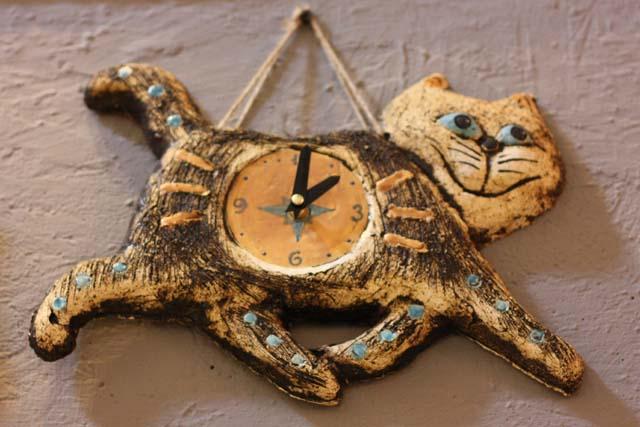 часы кот