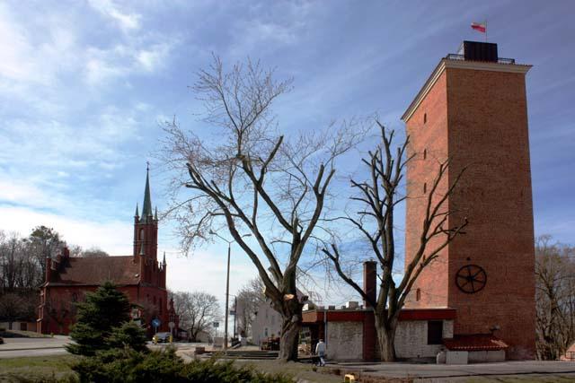 Фромборк - костел св. Войцеха и водонапорная башня