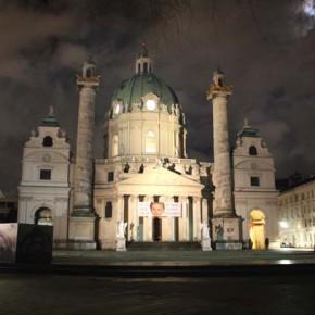 Карлскирхе — интересная церковь в Вене