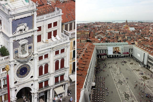 Часовая башня и площадь св Марка в Венецции