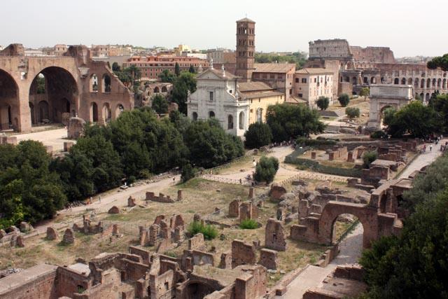 Вид на римский форум с Палантина