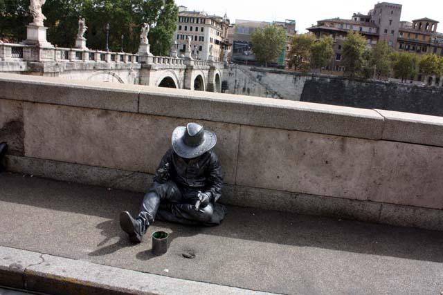 Живая скульптура в Риме