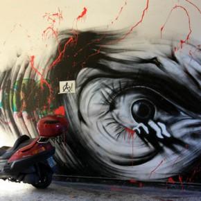 Граффити на стенах — фото из Греции