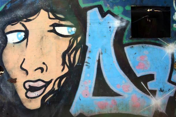 Граффити женское лицо