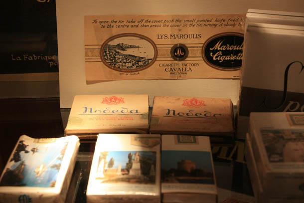 российские экспонаты в музее табака греции