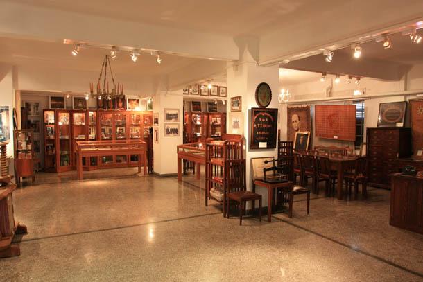 Музей табака в Кавале - панорама внутри