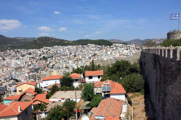 Кавала - панорама города