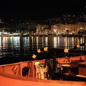 Кавала — ночная прогулка по набережной