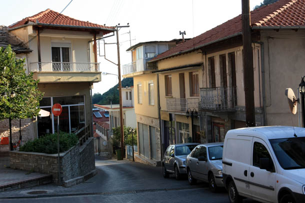 горный поселок в Греции
