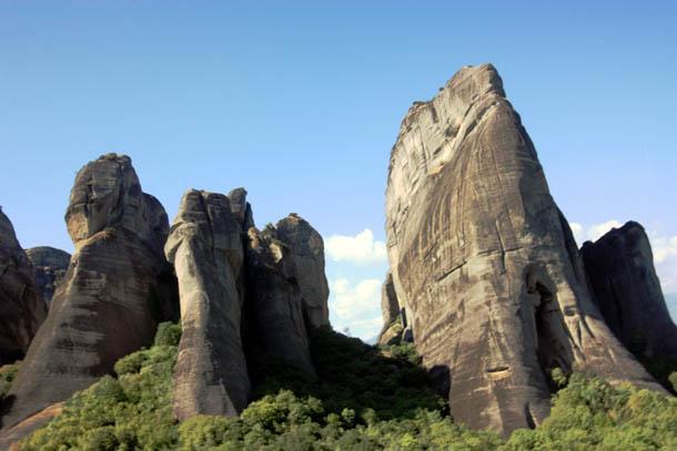Вершины скал в Метеорах, Греция