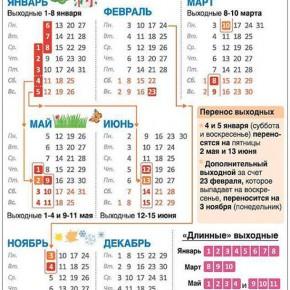 Как отдыхаем в 2014 году: календарь