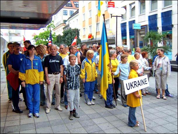 На открытии чемпионата мира по ориентированию в Австрии. Июль 2006 года.