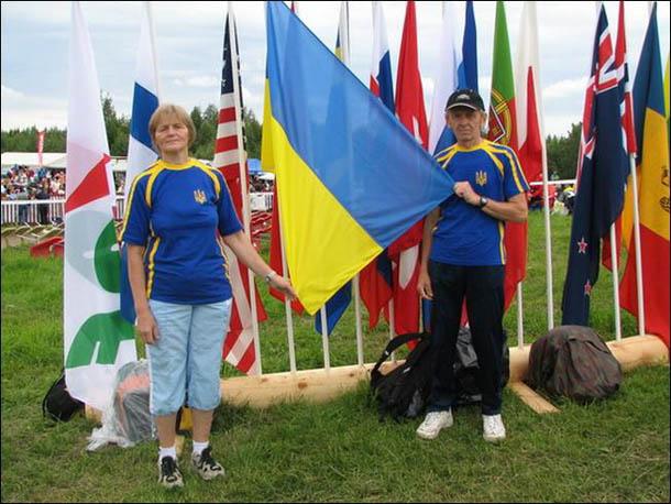 Финляндия, 13 июля 2007 года. С супругой в финальный день соревнований ЧМ.