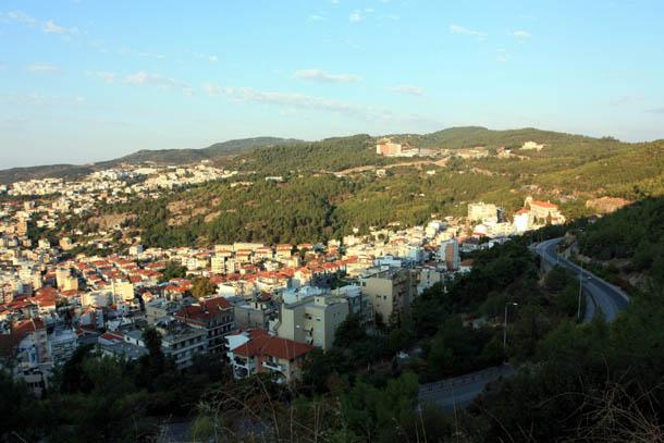 Кавала - вид на город с возвышенности