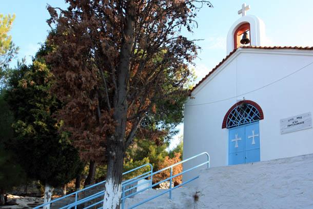 Кавала - храм святого Пантелеимона на горе
