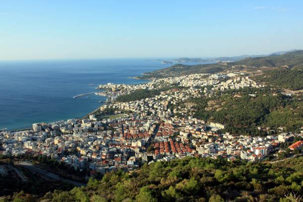 Кавала - вид на город с высоты