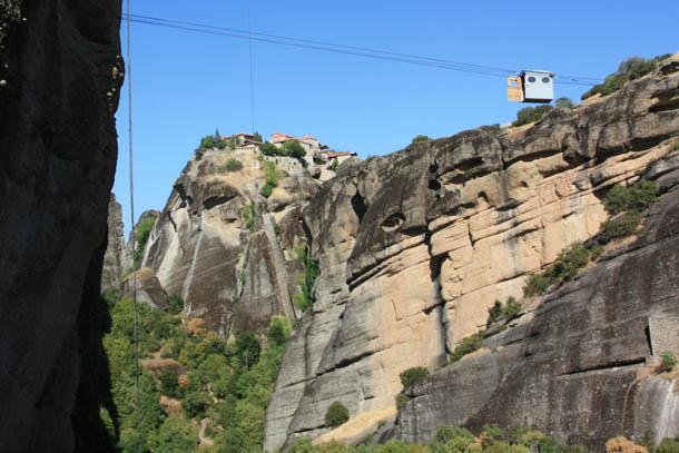 Варлаам - канатная дорога между монастырями