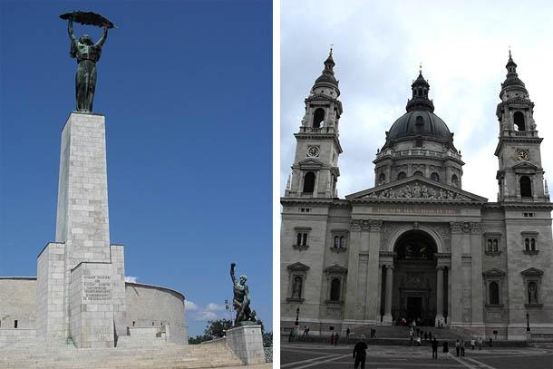 Гора Геллерт, Цитадель и Базилика Святого Иштвана в Будапеште