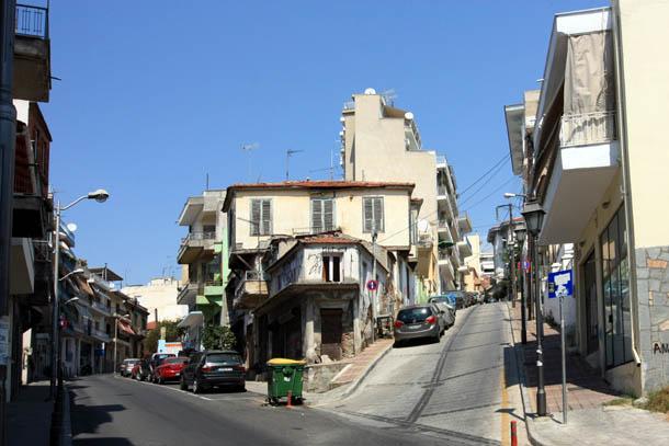улочки с подъемами в гору